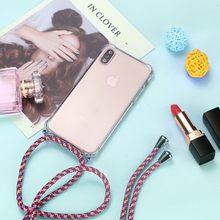 Strap Cord Chain Telefoon Case Voor Iphone Xs X 11 Tape Ketting Lanyard Mobiele Carry Cover Case Te Hangen Voor iphone Xs X S Cover