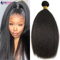 WowQueen Kinky Straight Bundles Human Hair (Brazilian) 1