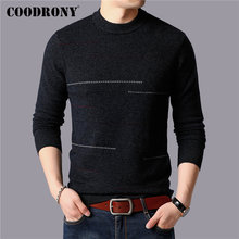 COODRONY Brand 100% Merino Wool Sweater Men Winter Thick Warm Sweaters Soft Cashmere Pullover Men Casual O-Neck Pull Homme 93044 coodrony brand sweater men 100