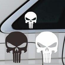 11 cm x 15 cm estilo do carro acessórios punisher crânio sangue vinil decalques carro adesivos motocicletas decoração preto/branco