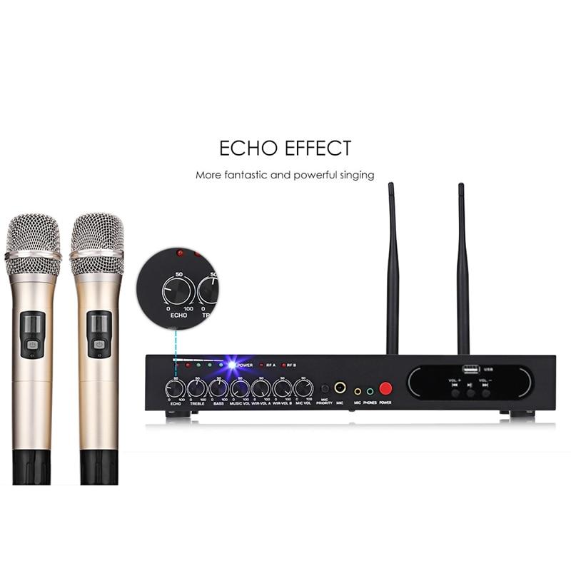 FULL MU 6S Wireless Handheld Mikrofon Dual Kanal UHF Festen Frequenzen Bluetooth Dynamische Patrone Echo Wirkung EU Plu - 2