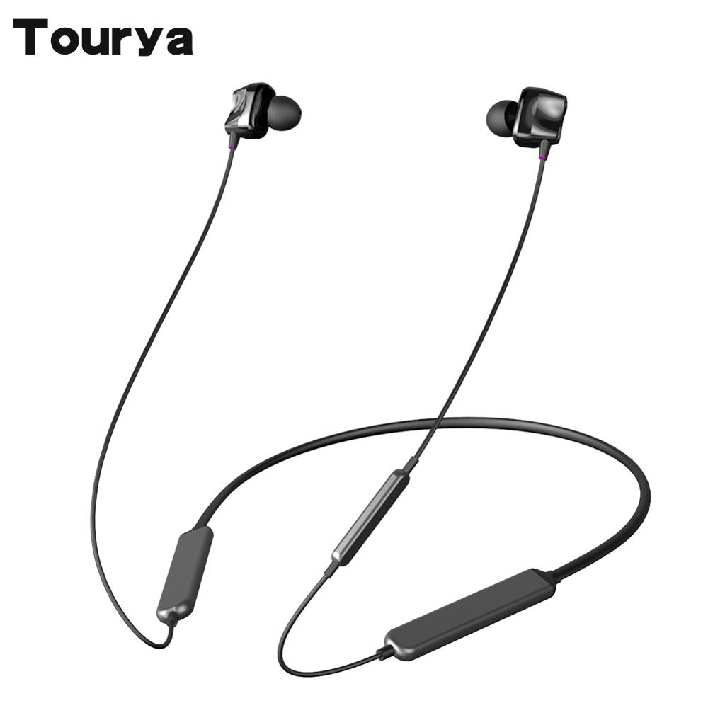 Tourya S7 Wireless <font><b>Headphones</b></font> <font><b>Bluetooth</b></font> <font><b>5.0</b></font> <font><b>Headphone</b></font> Sport Earphones 30H Play Time Four Drive Headset Neckband for Phone Sport image