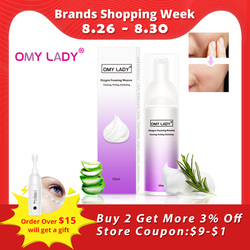 OMYLADY Oxygen Foaming Mousse Deep Cleansing Face Cleanser Moisturizing Oil Control Shrink Pores Remove Blackhead Face Cleanser