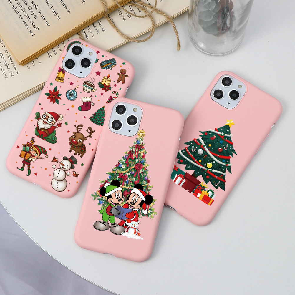 Merry Christmas New Year Candy Color Matt Case For Iphone 11 Pro Max