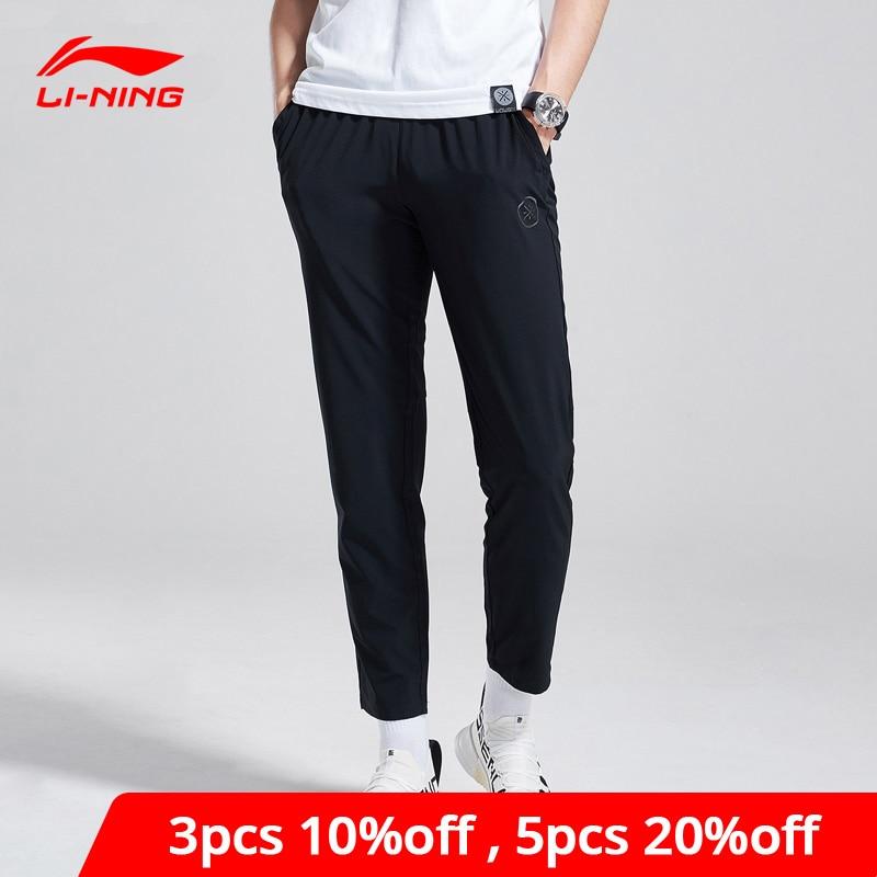 Li-Ning Men Wade Pants Elastic Slim Fit 88% Polyester 12% Spandex LiNing Li Ning Comfort Sports Pants Trousers AYKN167 MKY389