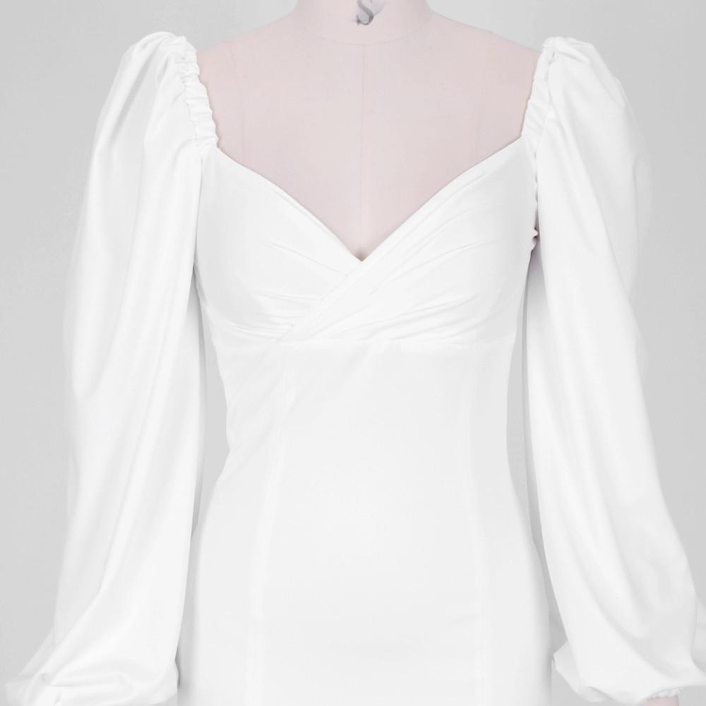 Puff Dress White Backless 8
