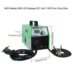 Image 3 - Reboot soldador Mig sin gas, máquina de soldadura de 220V MIG120, soldadores Mag, equipo de soldadura de acero y hierro, soldador portátil de MIG MAG