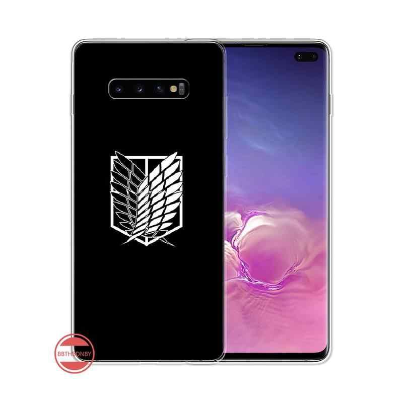 Anime ataque en Titán cubierta negro suave funda del teléfono carcasa para Samsung Galaxy S5 S6 S7 S8 S9 S10 S10e S20 edge plus lite