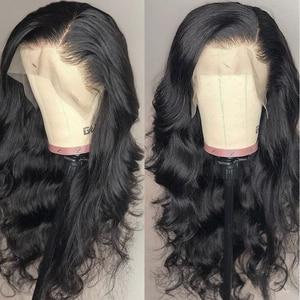 Image 3 - Pelucas frontales de encaje 13x4 para mujeres negras de largo 30 pulgadas, peluca de encaje Frontal, cuerpo ondulado, 4x4, pelucas de cabello humano Janin