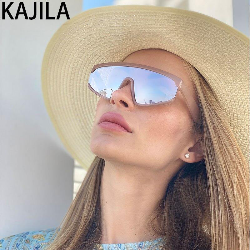 Sport Sunglasses Women Brand Designer 2020 One Piece Outdoor Oversized Sun Glasses For Women Vintage lunette de soleil femme