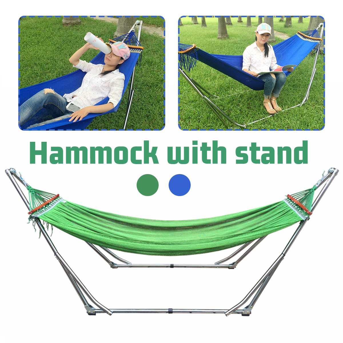 Folding Hammock Stand Bag Set 200KG Portable Steel Pipe Sleeping Swing Garden Outdoor Furniture Hunting Camping Accessories Kit| | - AliExpress