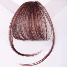 Bluelucky Top Selling Fashion Light Weight One Piece Clip On Have Sideburns Human Hair Air Bang For Lovely Girls