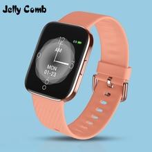 Galaretki grzebień IP68 wodoodporny kobiety inteligentny zegarek mężczyźni Bluetooth Smartwatch dla Apple iPhone Xiaomi pulsometr Fitness Tracker