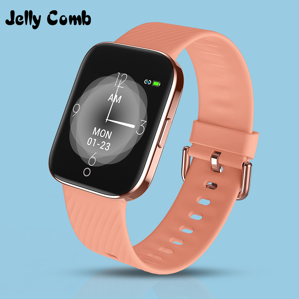 Jelly Comb IP68 Waterproof Women Smart Watch Men Bluetooth Smartwatch For Apple IPhone Xiaomi Heart Rate Monitor Fitness Tracker