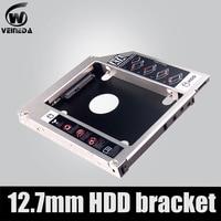 Universal 2nd 12.7mm alumínio hdd caddy sata 3.0  para 2.5