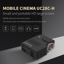 UNIC UC28CH Projector HDMI-Compatible 1920x1080P USB TF AV interface LED Mini projector Portable Home Media Video Player Gift