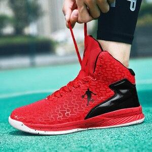 Image 5 - HUMTTO yüksek top büyük boy basketbol ayakkabıları erkekler açık ayakkabı erkekler aşınmaya dayanıklı yastıklama ayakkabı nefes spor ayakkabılar Unisex