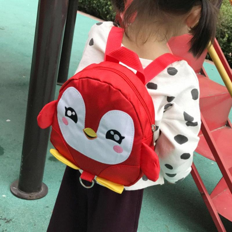 Cute Cartoon Penguin Backpack For Boys Girls Kindergarten School Bags Toddler Kids Children Gift With Anti Lost Traction Rope
