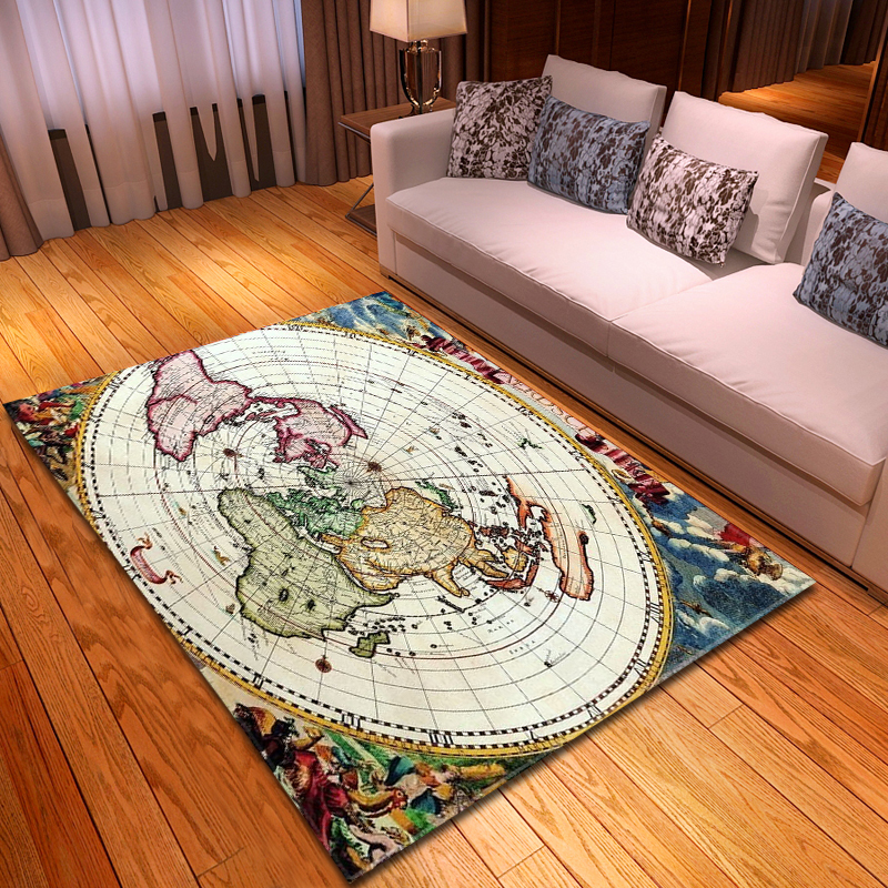 US $28.16 32% OFF|Nordic Clear World Map 3D Carpet Soft Flannel Sofa Bedroom Area Rugs Modern Home Decor Rugs and Carpets for Home Living Room|Carpet|