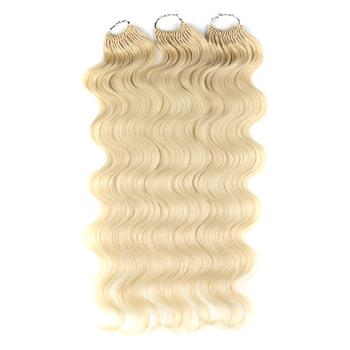 Naturalne włosy ciało fala szydełkowe włosy 22 Cal miękkie długie włosy syntetyczne bogini warkocze naturalne faliste Ombre 613 doczepy z włosów blond tanie i dobre opinie Nature Włókno odporne na wysoką temperaturę CN (pochodzenie) Water Wave 50 nici opakowanie ROZJAŚNIONE H HA804P 200G