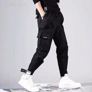 Image 3 - 2020 Bán Nam Hip Hop Miếng Dán Cường Lực Dài Thấm Hút Mồ Hôi Cho Quần Jogger Quần Áo Dây Rút Sportwear Quần Nam Hiphop Cá Tính Quần