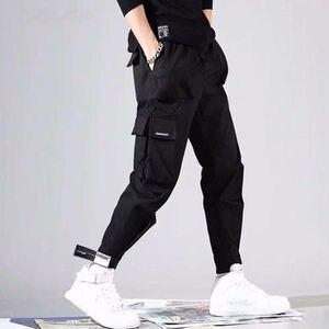 Image 3 - 2020 Hot Sale Men Hip Hop Patchwork Sweatpants Joggers trousers Casual Drawstring Sportwear Pants Male hiphop personality pants