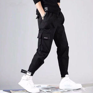 Image 3 - 2020 sıcak satış erkekler Hip Hop Patchwork Sweatpants Joggers pantolon rahat İpli spor pantolon erkek Hip Hop kişilik pantolon