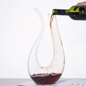 1500ML duża karafka ręcznie robione kryształowe wino brandy kieliszek do szampana karafka butelka dzbanek na rodzinne do baru nalewak do wina tanie i dobre opinie CN (pochodzenie) Szkło Ekologiczne Na stanie Karafki