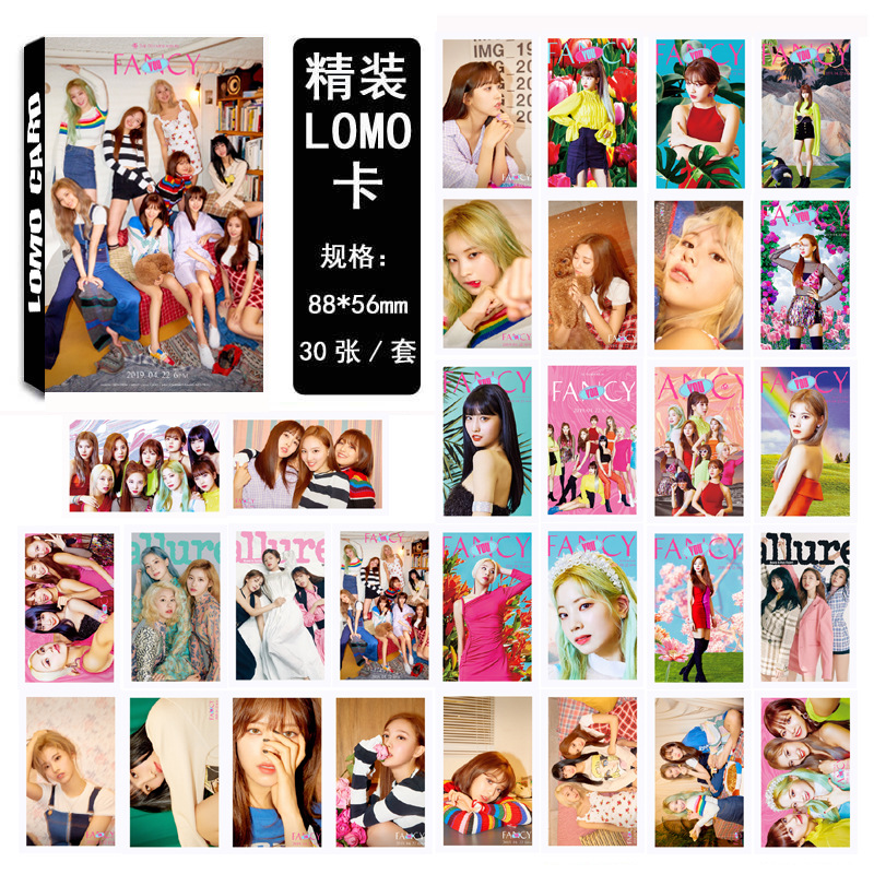 30pcs/set Kpop TWICE Photocard set FANCY YOU new album HD good quality Photo card fashion lovely twice kpop fans collection(China)