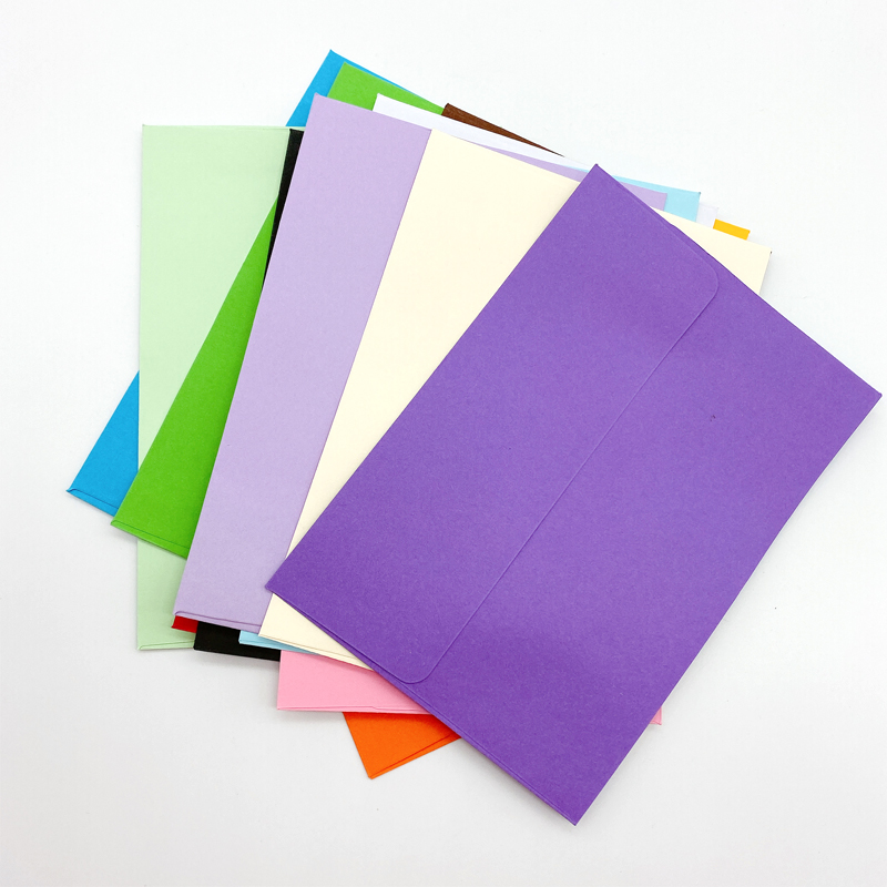 10pcs/lot Cute Candy Colors Kraft Paper Envelopes Decorative Envelope Small Paper Envelope