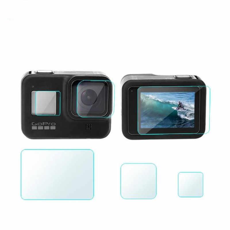Anordsem Soft Case Silikon Pelindung + Lensa Film Pelindung + Layar Film Pelindung untuk GOPRO HERO 8 Hitam Kamera