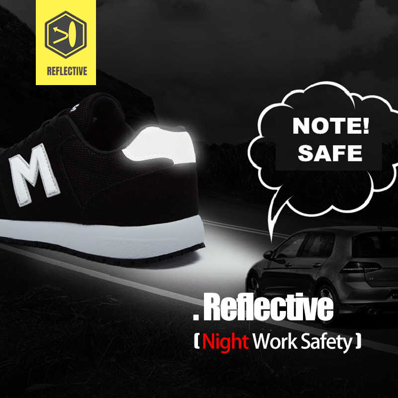 LARNMERN erkek siyah güvenlik ayakkabıları çelik ayak erkekler için Anti-smashing inşaat iş çizmeleri delikli Sneaker
