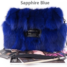 Real fox fur handbags bag Grey fur bag p