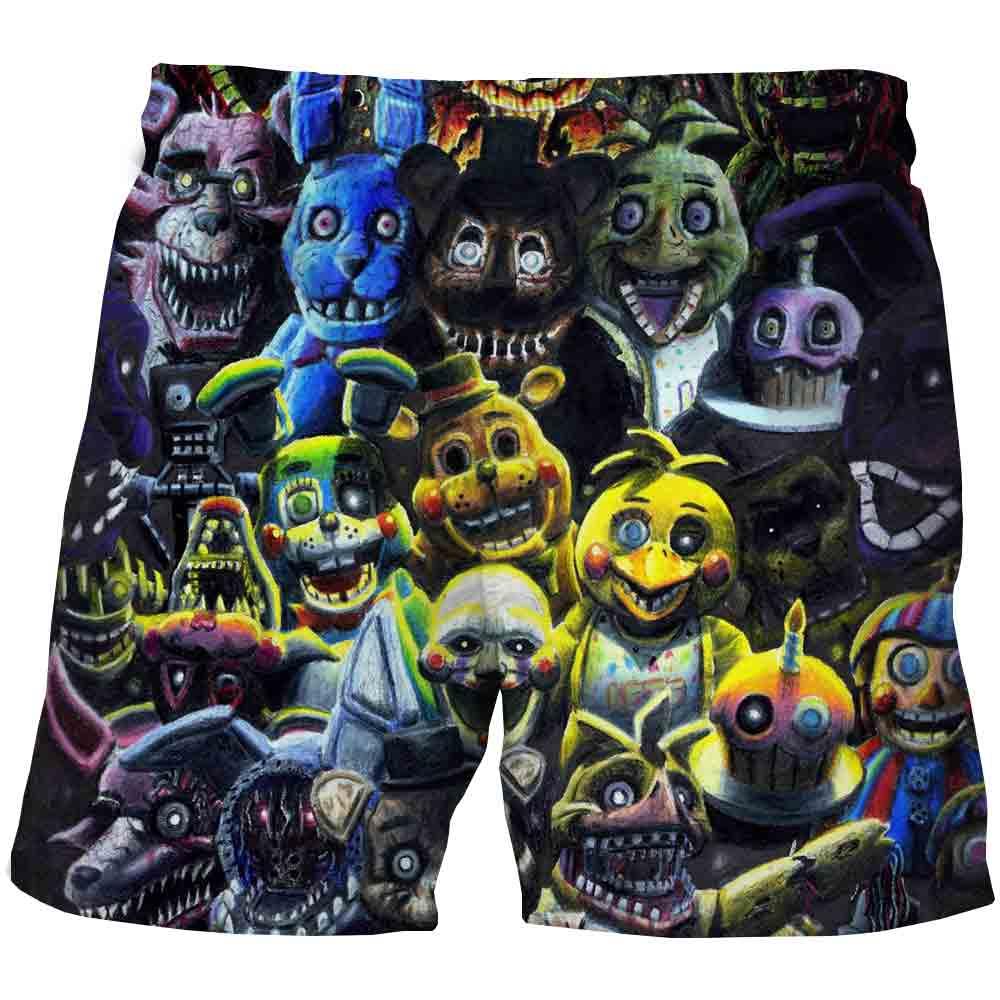 Новинка, модные летние детские шорты для мальчиков Five Nights at Freddy, 3D короткие пляжные шорты для малышей, повседневные спортивные штаны для мальчиков и девочек|Шорты|   | АлиЭкспресс