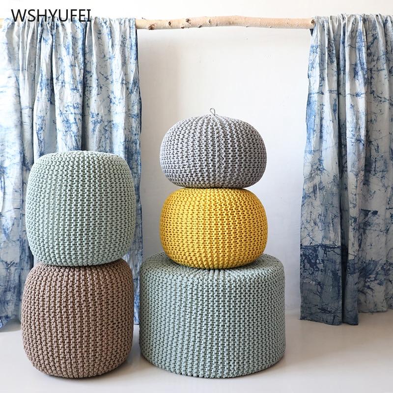 Desmontable y puro a prueba de manos a prueba de moho algodón tejido futon cojín yoga asiento cambio zapato Banco tatami meditación mat - 3