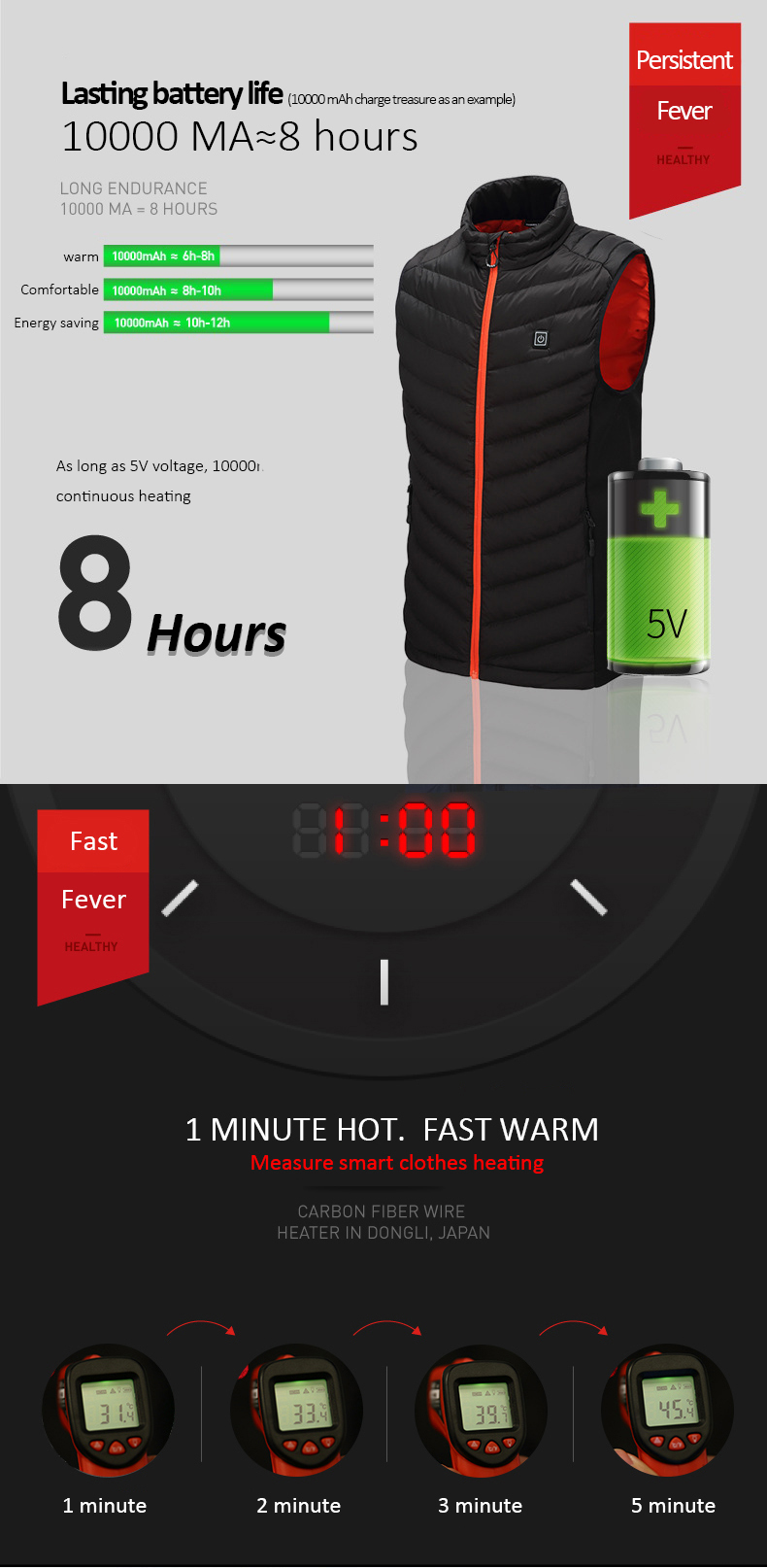 New Adult Outdoor USB Infrared Heating Vest Jacket Winter Flexible Electric Thermal Clothing Waistcoat Fishing Hiking Dropship88