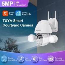 INQMEGA WIFI 5MP / 3MP Tuya Floodlight Courtyard IP Lighting Camera AI Mobile Detection Outdoor Security Protection CCTV Camera