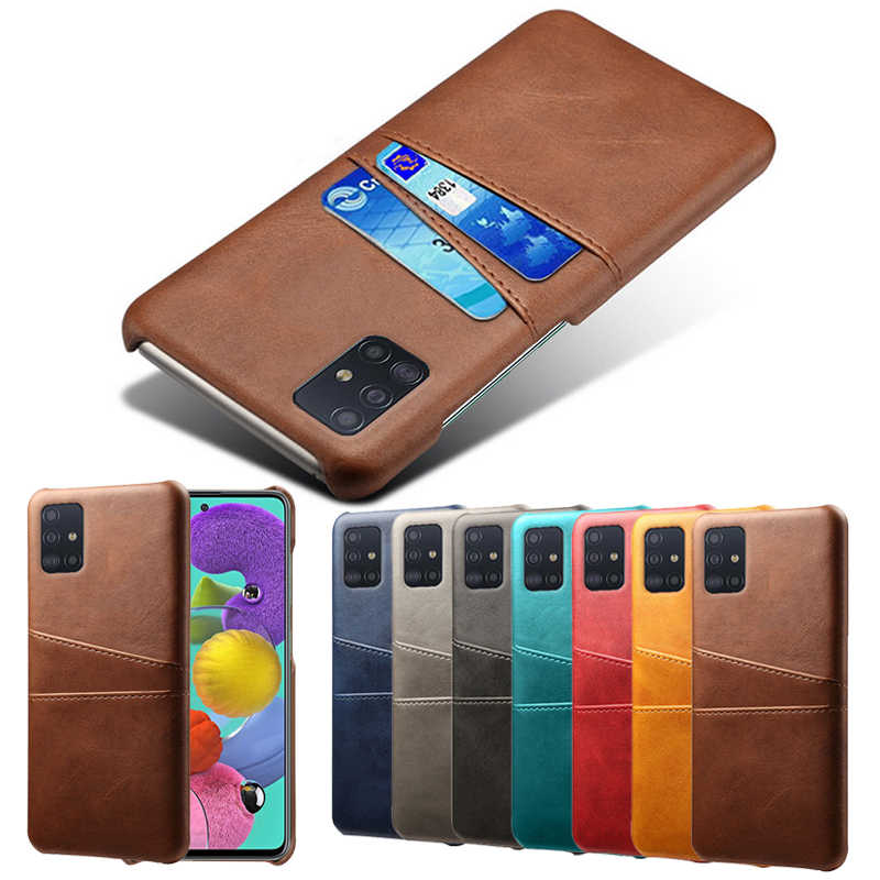 Étui en cuir Pour Samsung Galaxy A91 A81 A71 A51 A70S A50S A30S A90 5G S20 Ultra S10e S9 S8 Plus Note 10 Lite Carte Couverture D'insertion