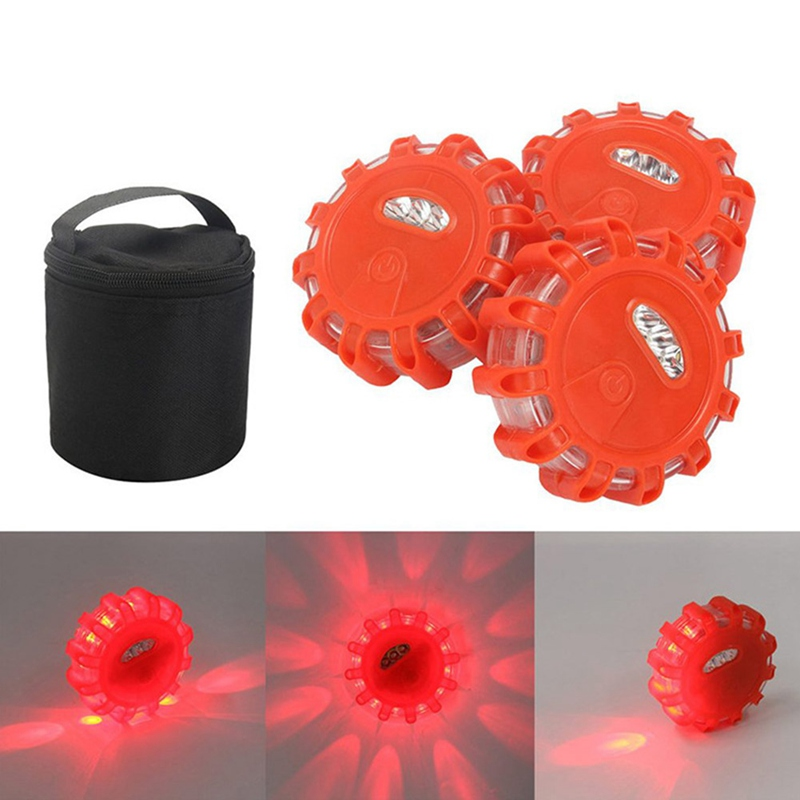 Safurance LED Road Flares Emergency Red Safety Light Flashing Roadside Beacon Traffic Light Roadway Safety