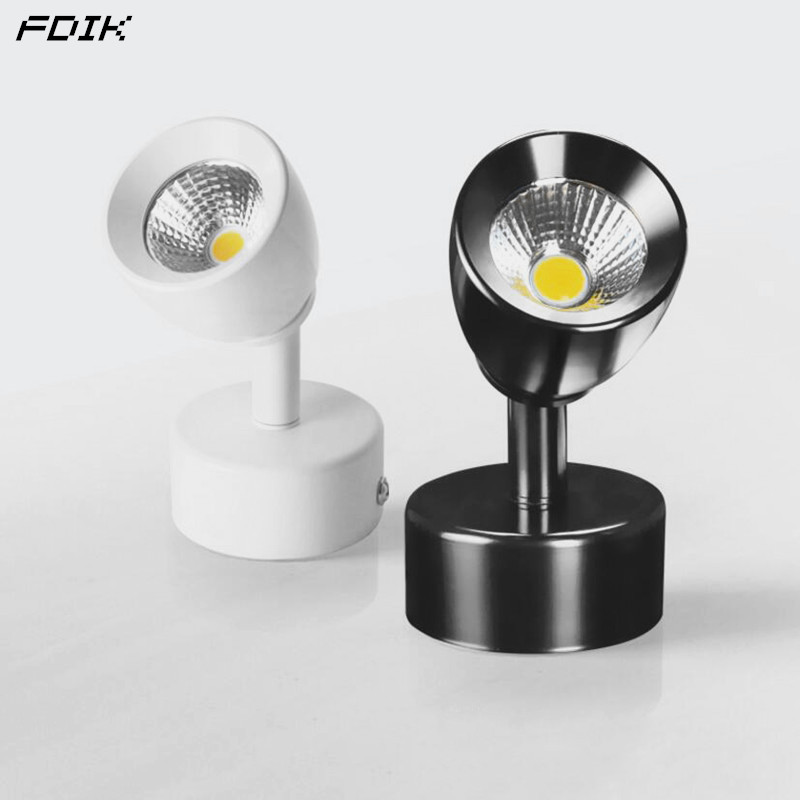 Dimmable <font><b>LED</b></font> <font><b>Wall</b></font> Lamps 360° Rotating Adjust <font><b>LED</b></font> <font><b>Spot</b></font> lights 5W7W10W AC85~265V <font><b>LED</b></font> Ceiling Down lights Background <font><b>Wall</b></font> Lighting image