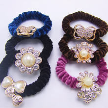 Korea Rambut Band Bulu Hairband Usus Besar Cincin Rambut Aksesoris Set Hairband Ultra-Stretch Headband Bulang Dua Y(China)