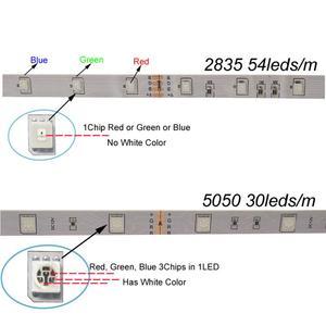 Image 2 - Riri Zal SMD5050 Rgb Led Strip Licht 5M 10M 30Leds/M Dc 12V Tape Lint diode Flexibele Waterdichte 44 Toetsen Controller Adapter Set