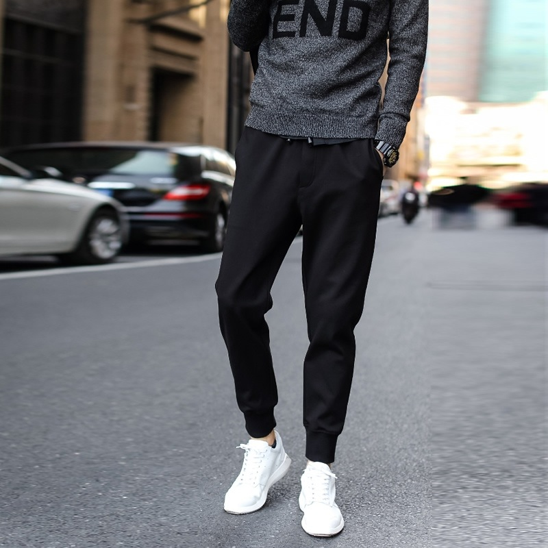 Thin Casual Pants Men Slim Fit Skinny Pants Gymnastic Pants Harem Pants Ankle Banded Pants Fashion Man Sweatpants