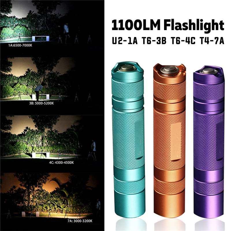 Convoy S2+ 7135*8 Driver L2 U2 T6 1100LM 3/5Modes Super Bright EDC Floodlight Flashlight For Camping LED Torch Lantern Lamp