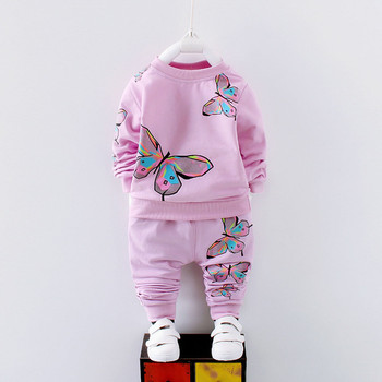 Toddler Girls Clothes Girls Clothing Sets Kid Baby Girl Long Sleeve Printed T-shirt+Pants Tracksuit Outfit Set Children Clothing jxysy toddler kid baby girls clothing set ruffles floral top pleated pants spring autumn girls clothes children costumes