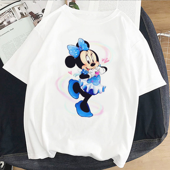2020 Cartoon Mouse Japanses Aesthetic Grunge T Shirt Women Harajuku Cute Kawaii White Summer Casual Tumblr Outfit Fashion Tops