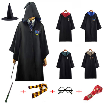 Cosplay Costume Robe Potter Hermione Uniforms Potter Cosplay Clothes Costumes Kids Adult Cape Cloak Hot Birthday Gifts Halloween star wars jedi cloak cosplay costumes adult men hooded robe cloak cape costume halloween christmas dresswith