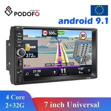 Podofo Multimedia Speler Android 2 Din Radio Auto Dvd Gps Voor Nissan Almera Toyota Volkswagen Mazda Kia Vw Peugeot Lada hyundai