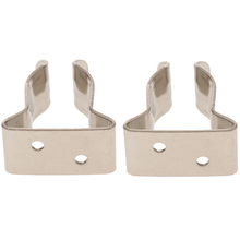 2x 304 Stainless Steel Marine Boat Hook Holder Clips -5/8inch to 1inch Tube