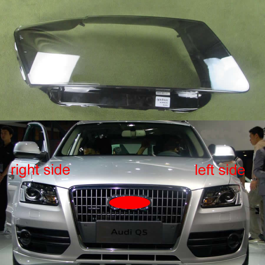 For Audi Q5 2010 2011 2012 Headlamp Transparent Cover Lampshade Lamp Shade Lamp Glass Headlight Shell Lens Glass